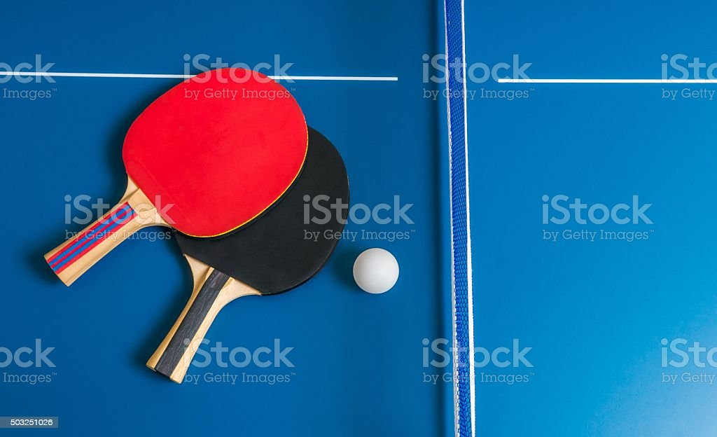 Rackets for table tennis stock photo