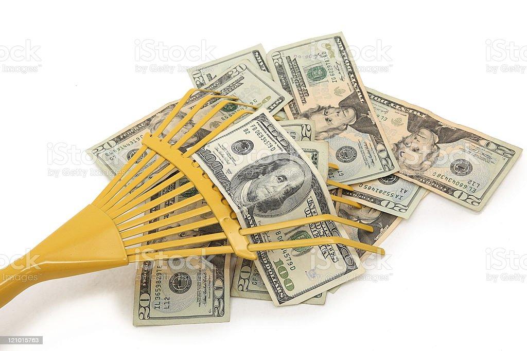 Racking in Money stock photo