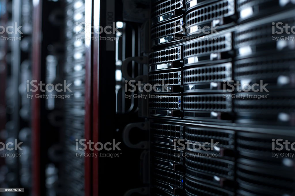 Rackmount Servers in a Data Center royalty-free stock photo