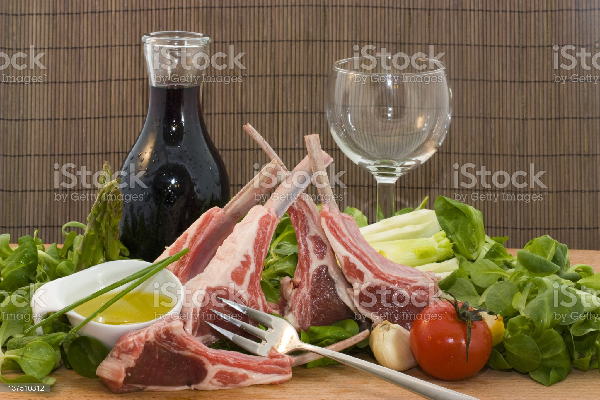 Racks of lamb royalty-free stock photo