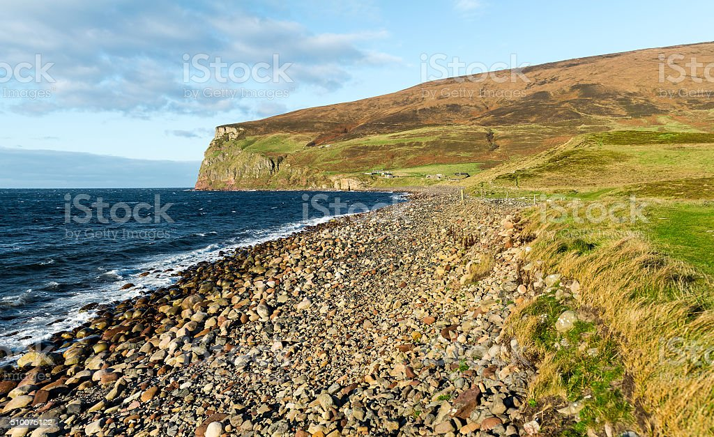 Rackwick Bay on Isle of Hoy, Orkney, Scotland stock photo