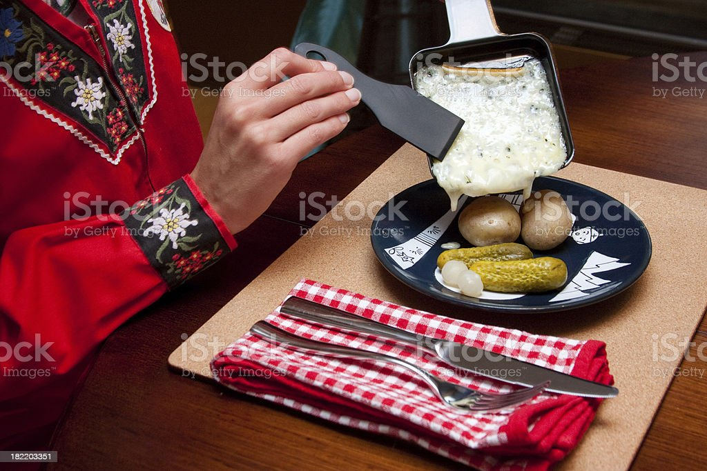 Raclette Dinner stock photo