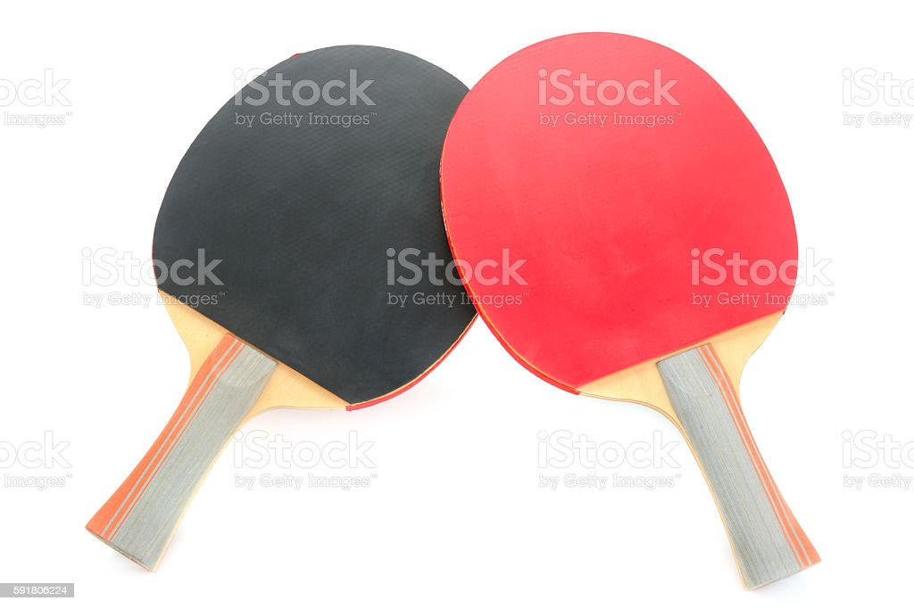 racquet to play ping-pong stock photo