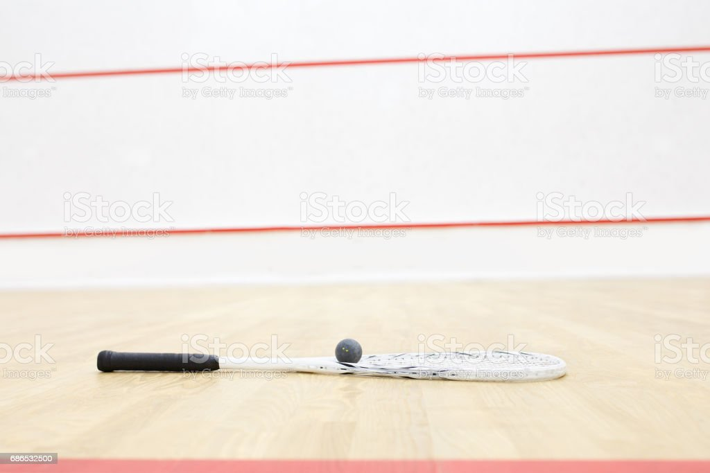 racquetball for squash game stock photo