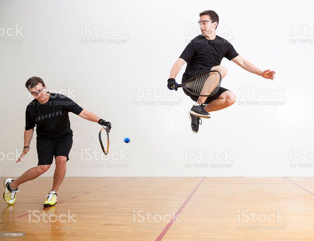 Racquetball Jump stock photo