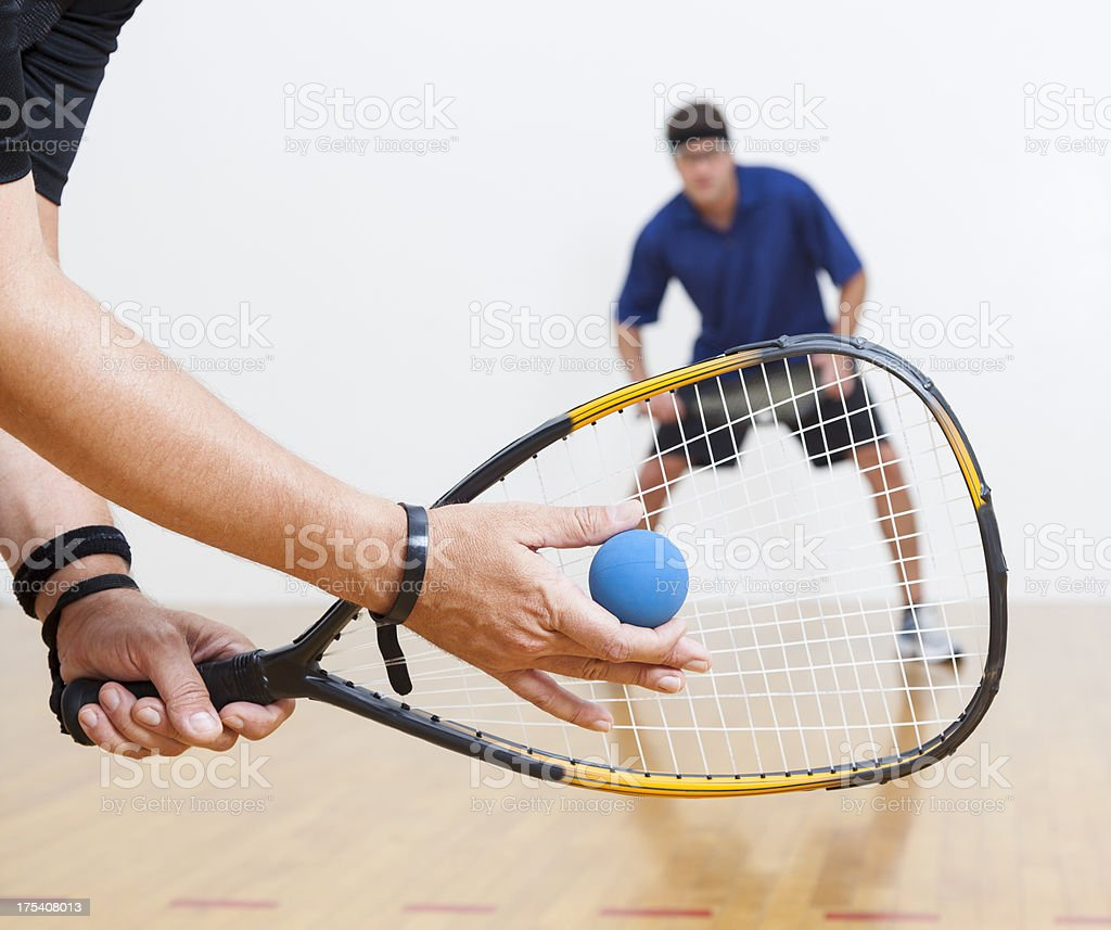 Racquetball royalty-free stock photo