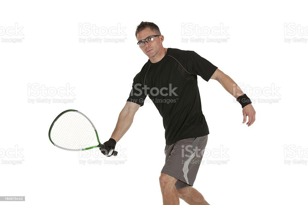Racquetball player stock photo