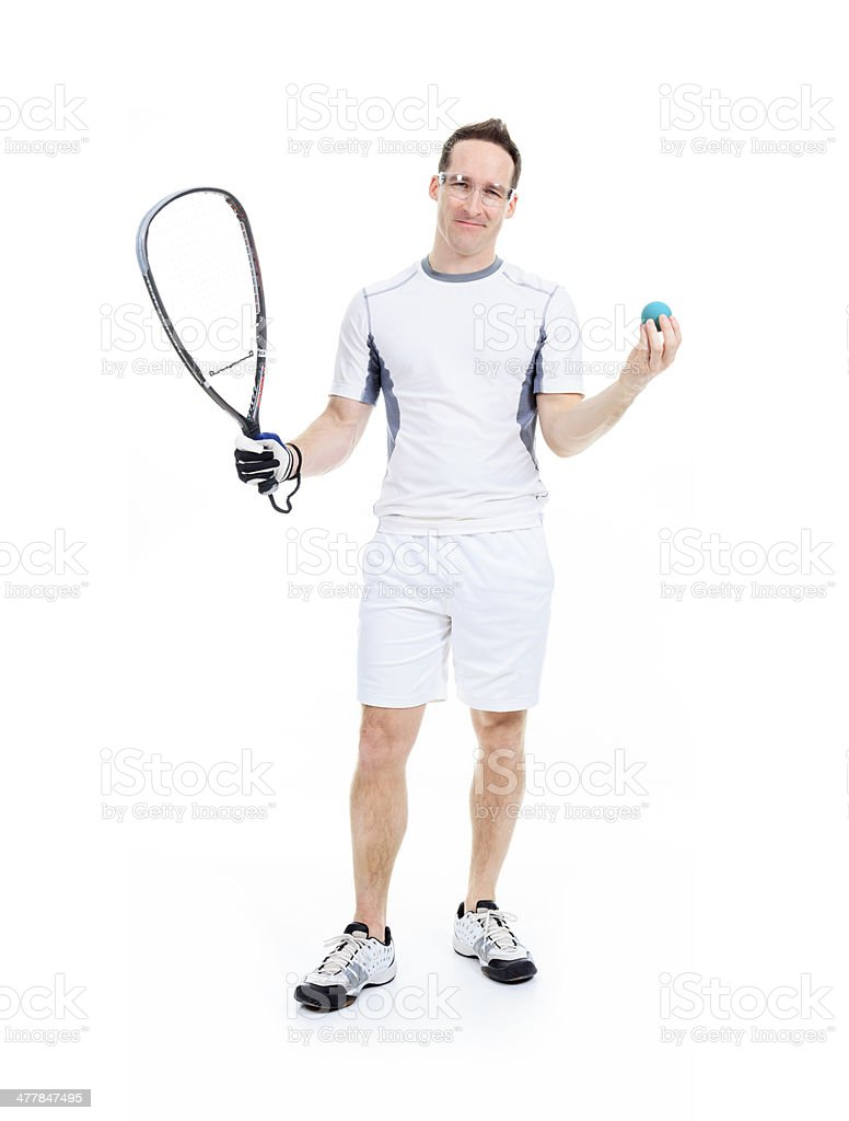 Racquetball Player royalty-free stock photo