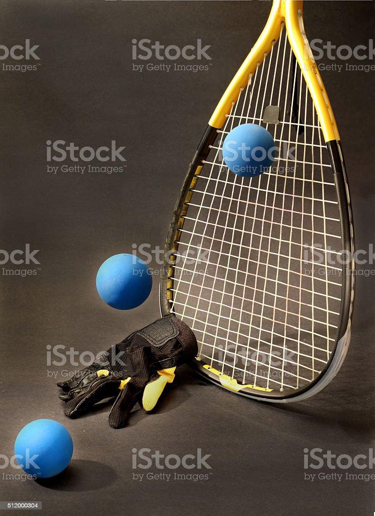 racquetball still klife stock photo