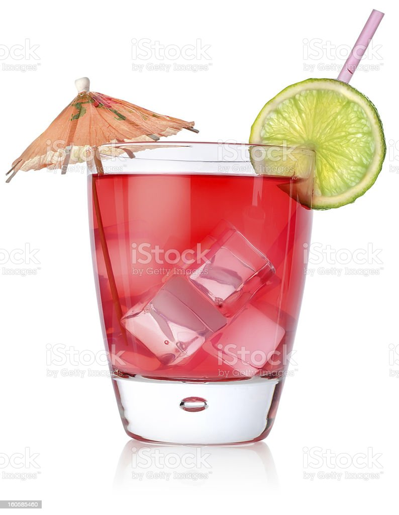 Rad cocktail in a glass royalty-free stock photo
