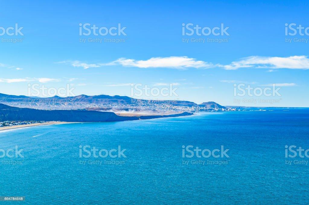 Rada Tilly Aerial View Landscape Scene stock photo