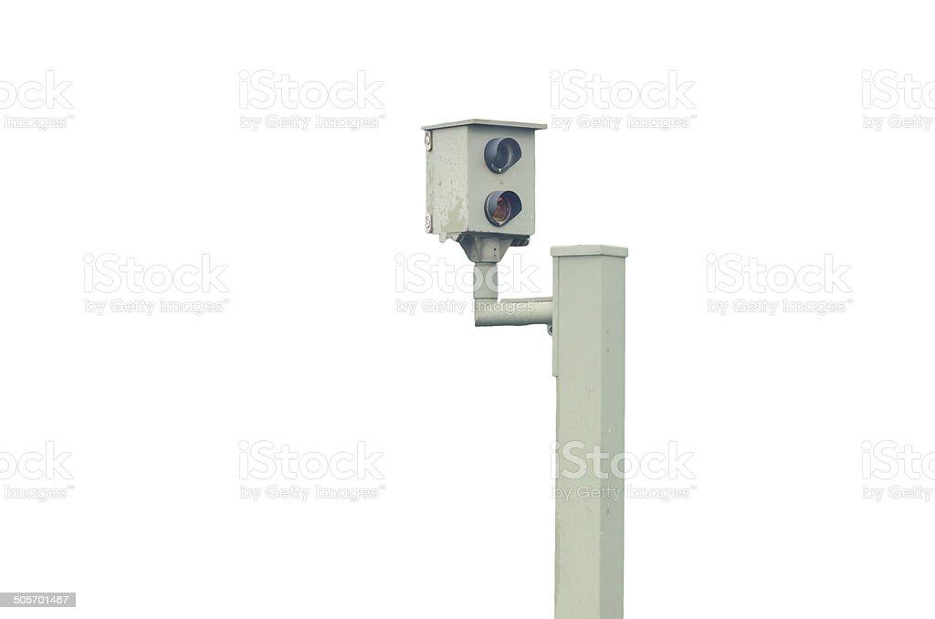 Radar control, flash, speed camera, speed cameras stock photo