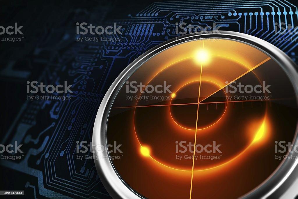 Radar Detection stock photo