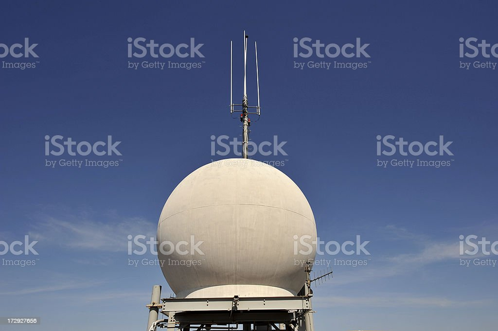 Radar dome royalty-free stock photo