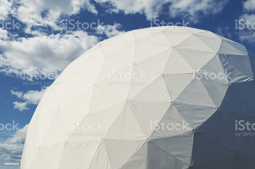 Radar Dome stock photo