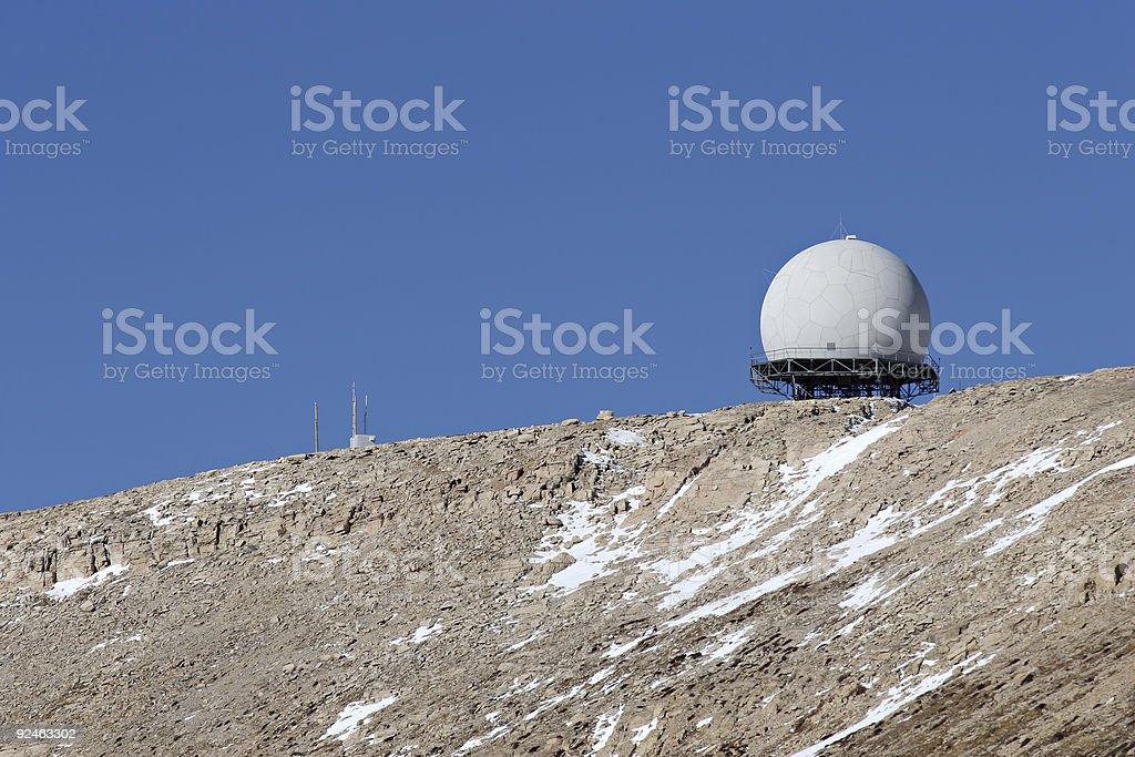 radar facility royalty-free stock photo