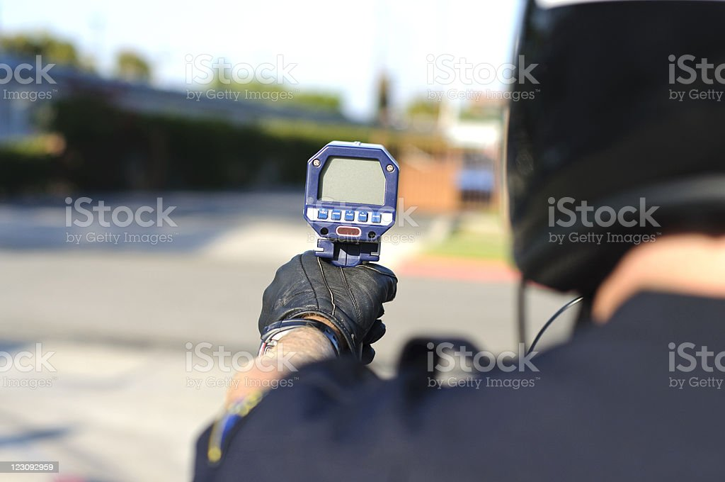 radar gun stock photo