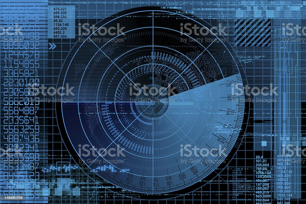radar illustration stock photo