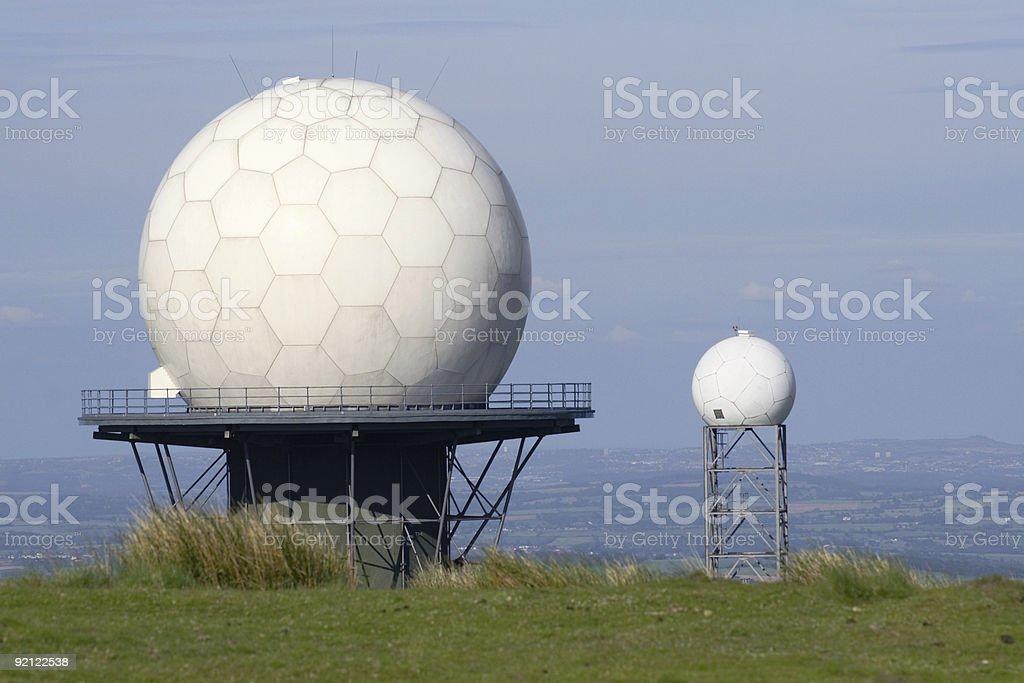 Radar Installation royalty-free stock photo