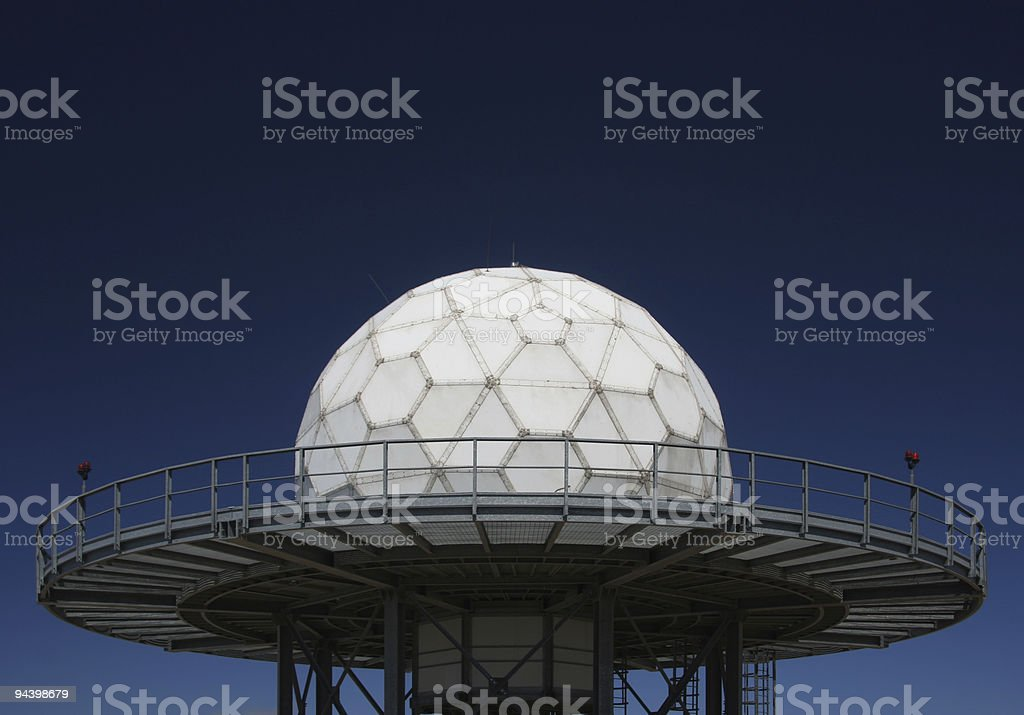 Radar Installation with Sphere royalty-free stock photo