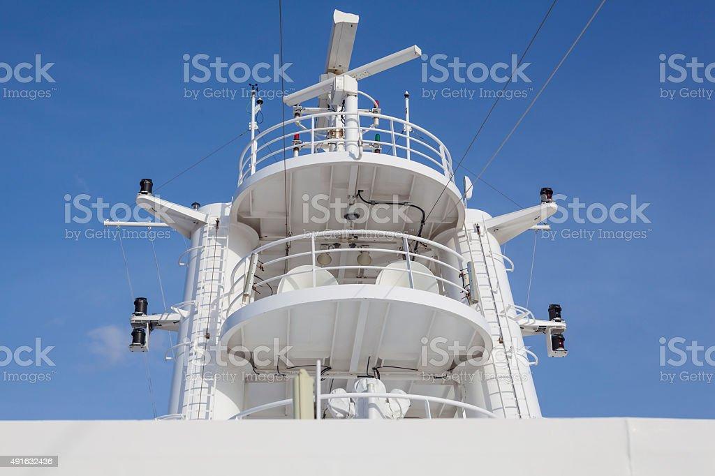 Radar navigation system of a modern ship stock photo