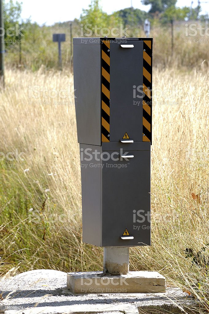 Radar on a French road royalty-free stock photo