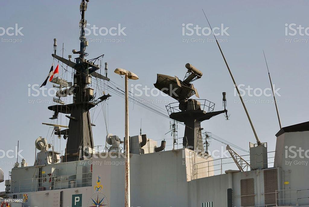 Radar na Statek wojskowy zbiór zdjęć royalty-free