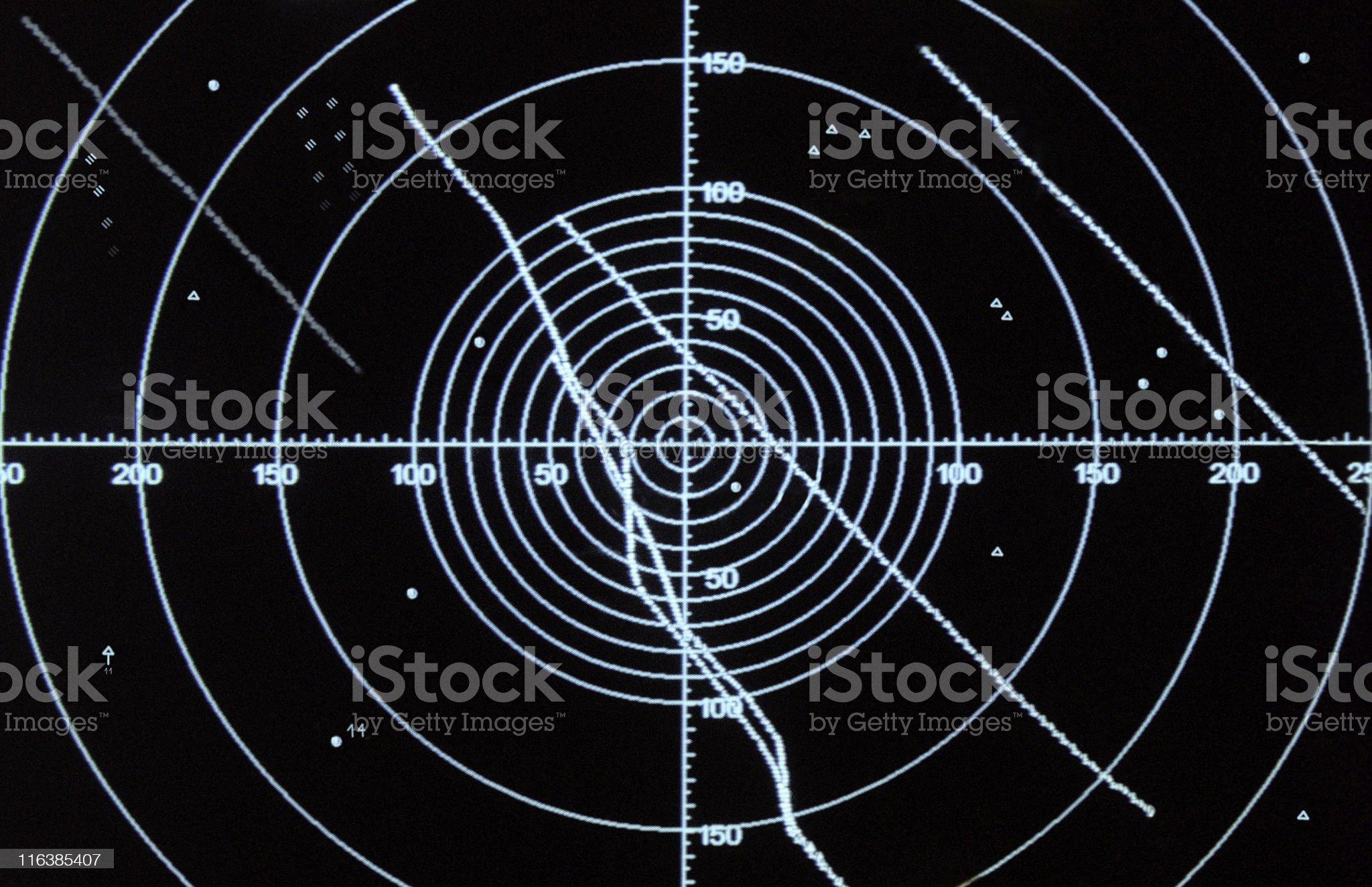 Radar screen royalty-free stock photo