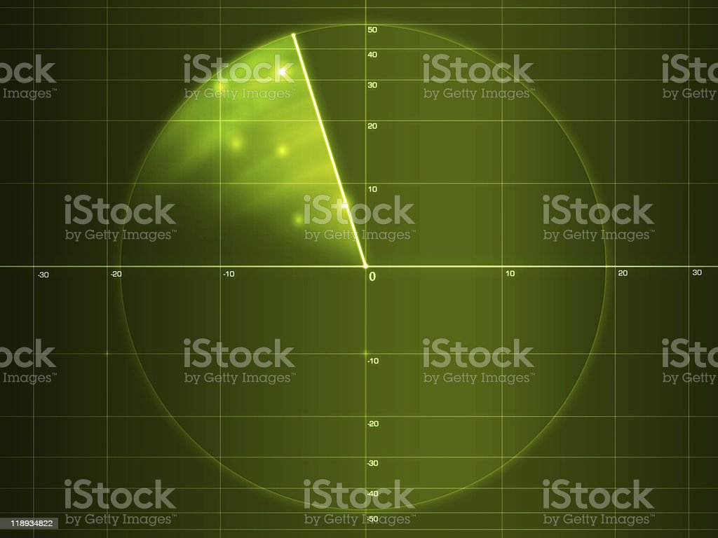 Radar screen stock photo