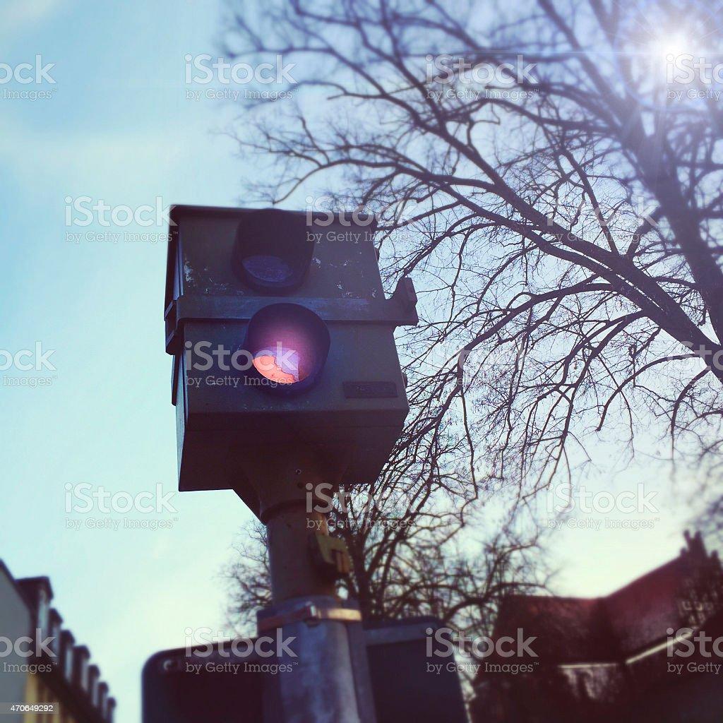 Radar speed camera - German Blitzer stock photo