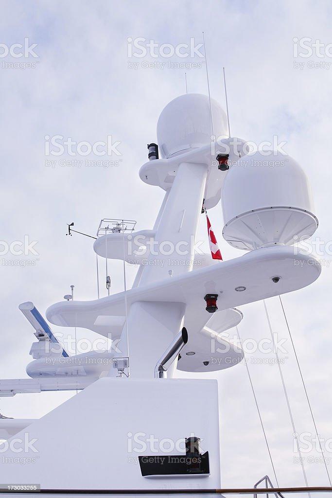Radar system on ship royalty-free stock photo