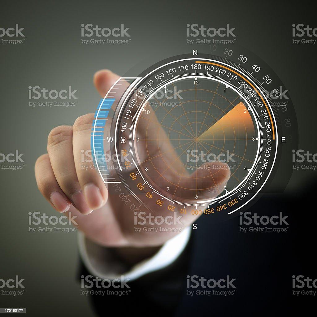 Radar - Touch Screen royalty-free stock photo