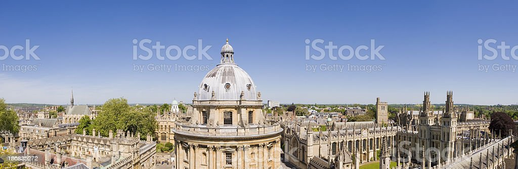 Radcliffe Camera and All Souls College Oxford England stock photo