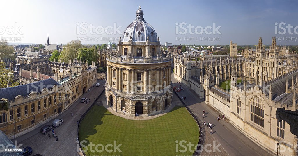 Radcliffe Camera Panorama stock photo