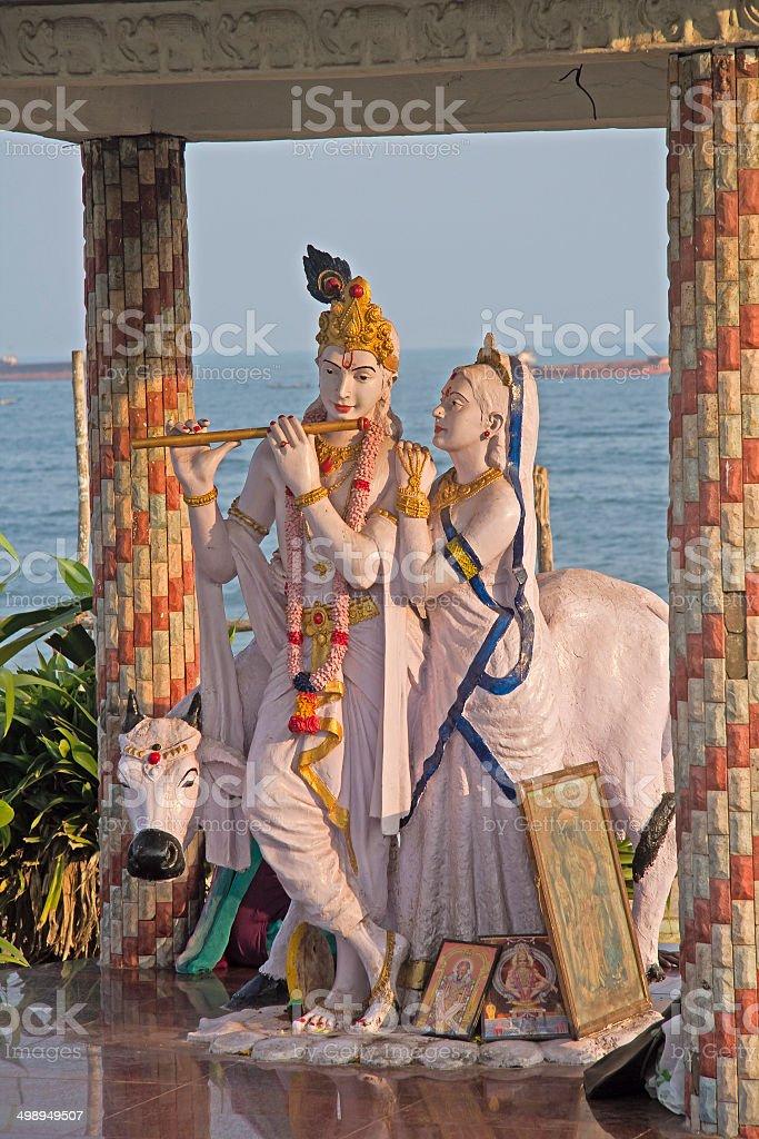 Radha and Krishna stock photo