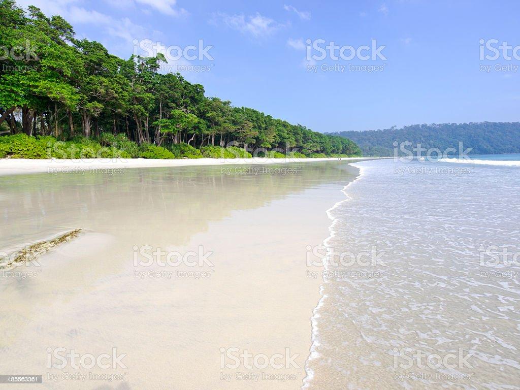 Radhanagar Beach stock photo