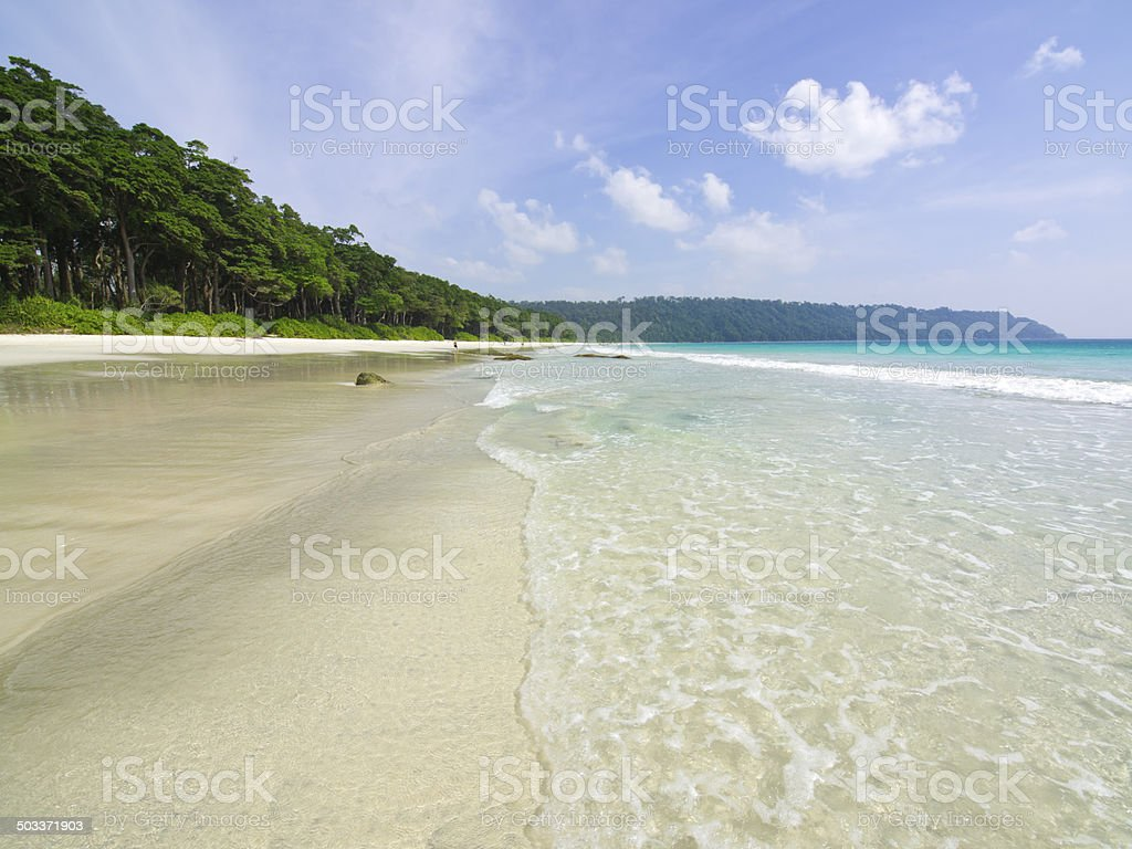 Radhanagar Beach stock photo