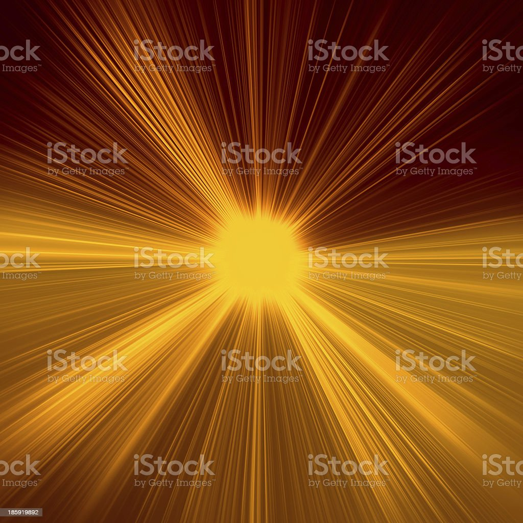 Radial abstract golden background stock photo