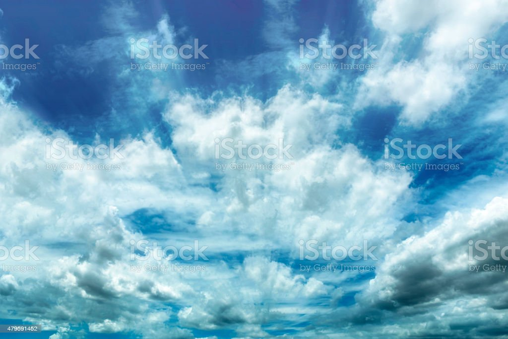 Radial blured with Cloud and Sky. royalty-free stock photo