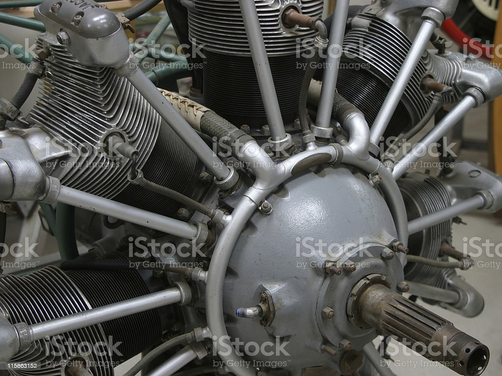 Radial Engine royalty-free stock photo
