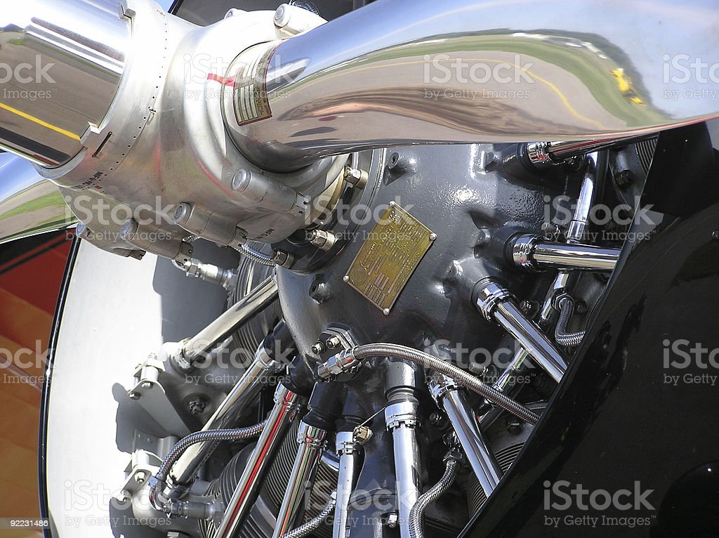 Radial Engine Power With Lots Of Chrome royalty-free stock photo