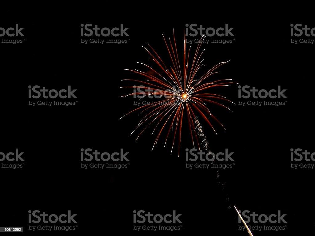 Radial FireWork stock photo
