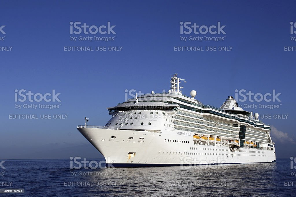 'Radiance of the Seas' Cruise Ship from Royal Caribbean royalty-free stock photo