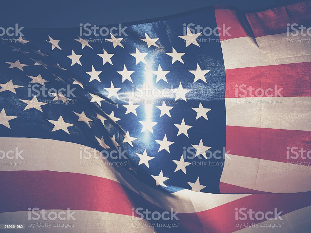Radiant American Flag stock photo