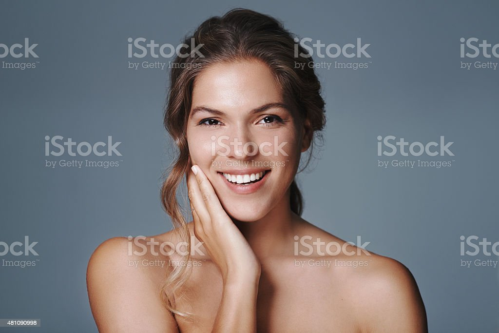 Radiant beauty and a smile to match stock photo