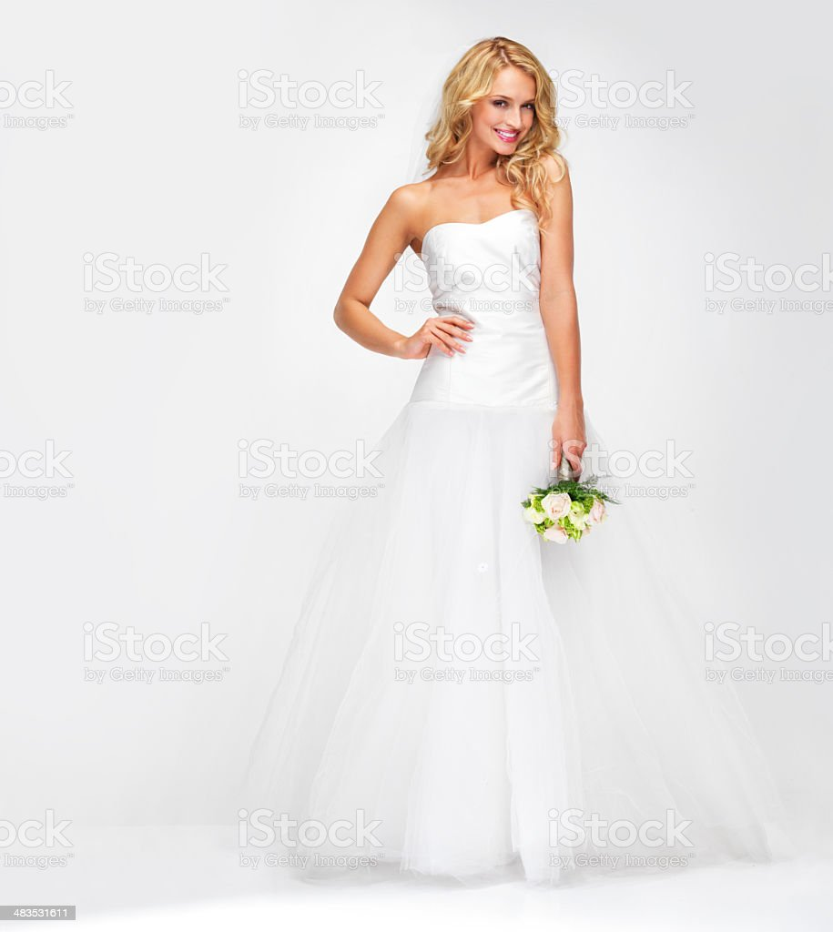 Radiant on her special day stock photo