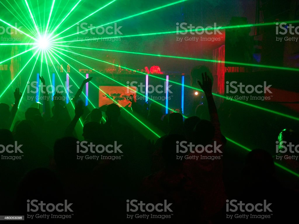 Radiant party stock photo