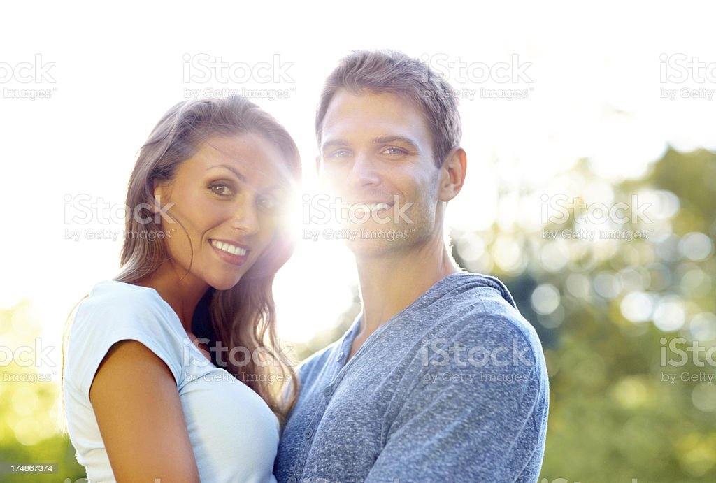 Radiant with love royalty-free stock photo