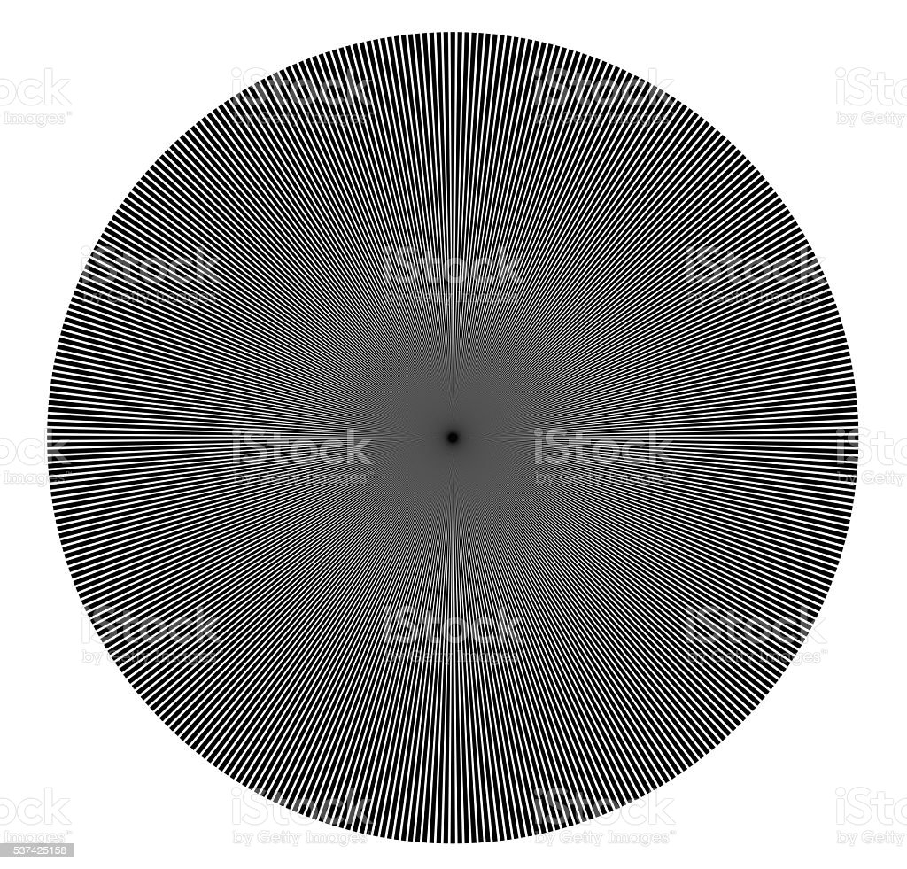 Radiating circle from lines,  star burst stock photo
