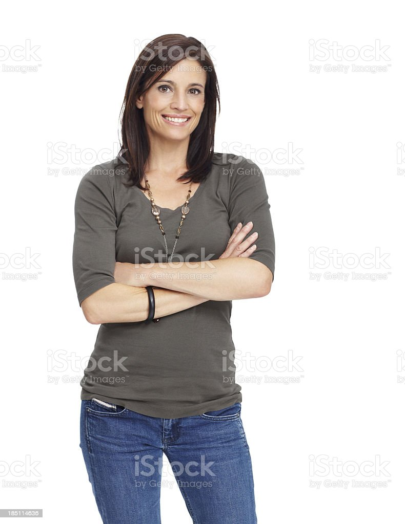 Radiating confidence and success stock photo